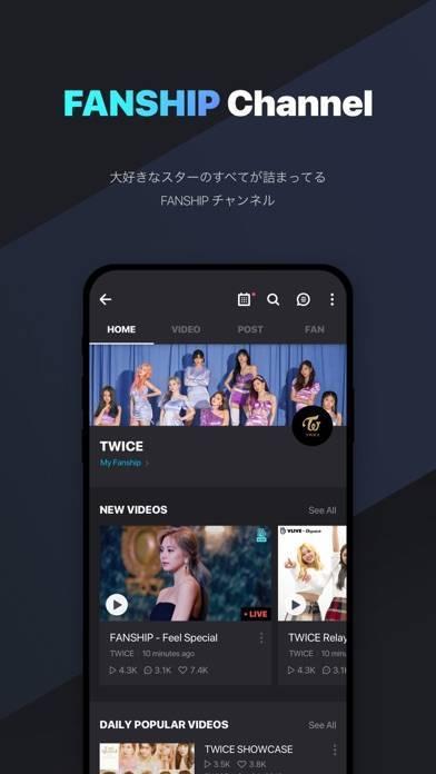 「V LIVE - Global Star Live app」のスクリーンショット 3枚目