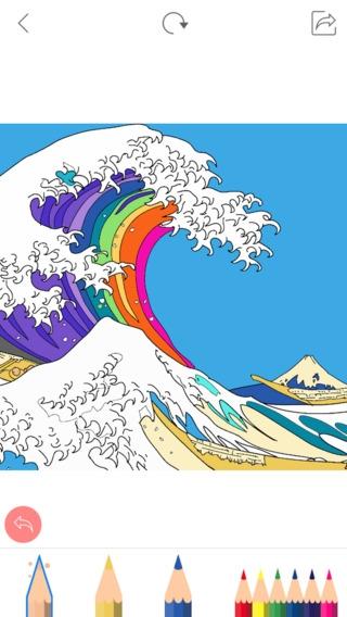 「Colorgram 大人のための塗り絵帳 - 無料」のスクリーンショット 1枚目