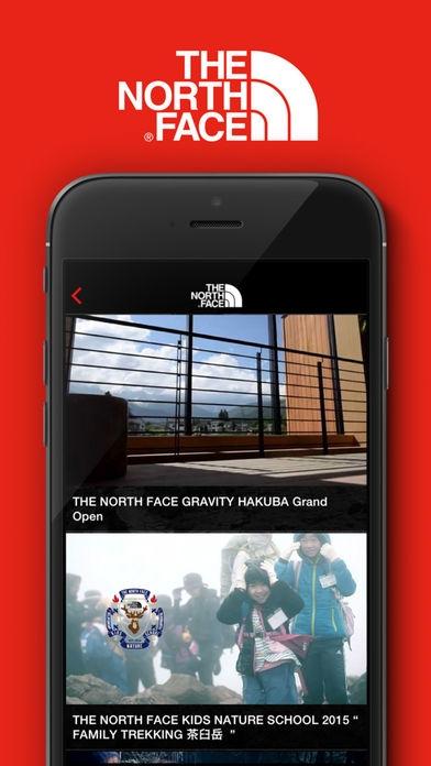 「THE NORTH FACE JAPAN APP」のスクリーンショット 3枚目