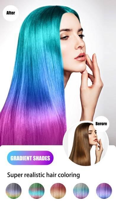 「Hair Color Dye - Hairstyle DIY」のスクリーンショット 2枚目