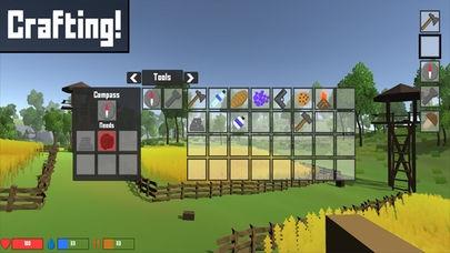 「Pixel Block Survival Craft」のスクリーンショット 2枚目