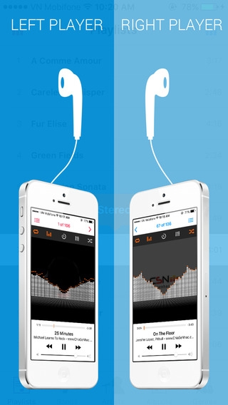 「Dual Music Player - Free Music Player with ability to play 2 songs at the same time」のスクリーンショット 2枚目
