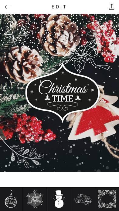 「Xmas Cam - Christmas Stickers and Photo Frames」のスクリーンショット 1枚目