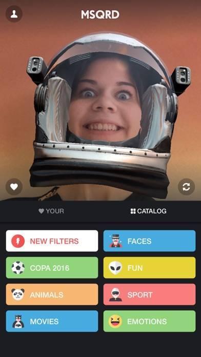 「MSQRD — 自撮りビデオ用のライブフィルターとフェイススワップ」のスクリーンショット 3枚目