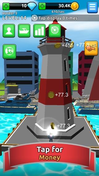 「Harbor Tycoon Clicker」のスクリーンショット 3枚目