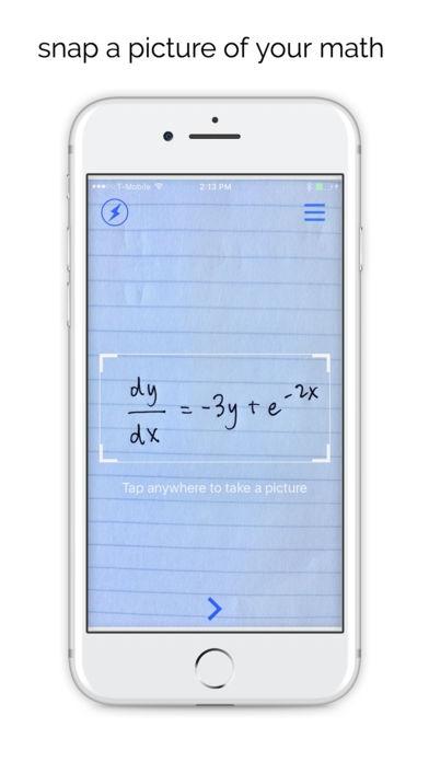 「Mathpix - Solve and graph math」のスクリーンショット 1枚目
