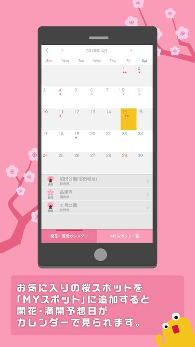「桜のきもち - 桜の状態や開花・満開予想日がわかる!」のスクリーンショット 3枚目