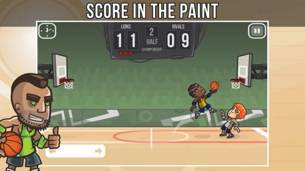 「Basketball Battle - Arcade Hoops Game (Full Court)」のスクリーンショット 2枚目