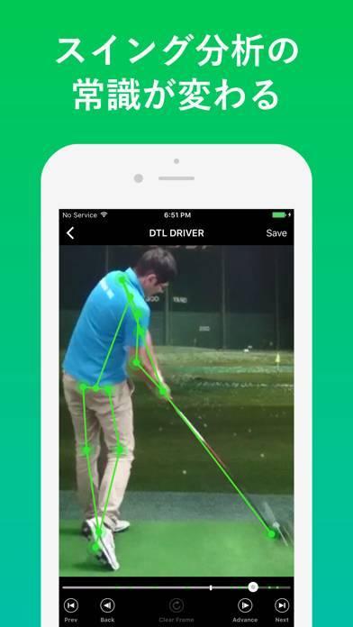 「ゴルフスイング動画分析 Dr. Swing」のスクリーンショット 1枚目