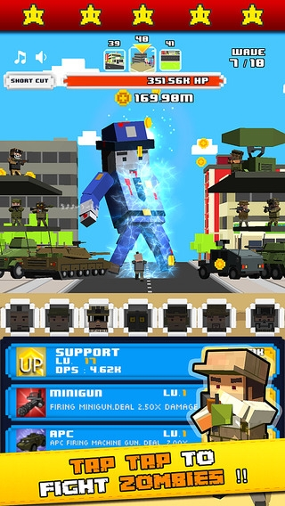 「Tap Zombies Idle Clicker - The army squad goals up to enemy strike」のスクリーンショット 2枚目