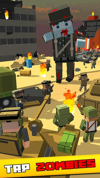「Tap Zombies Idle Clicker - The army squad goals up to enemy strike」のスクリーンショット 1枚目