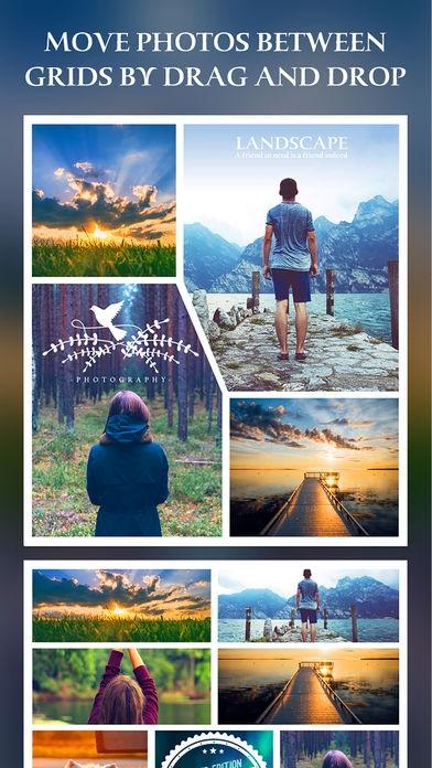 「After Frame 365 Pro - 写真のコラージュエディタ&レイアウト&ビューティーカメラ・ステッカー」のスクリーンショット 3枚目