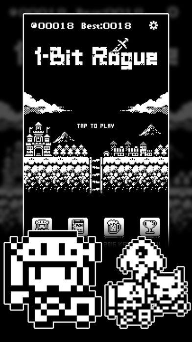 「1ビットローグ ダンジョン探索RPG!」のスクリーンショット 1枚目