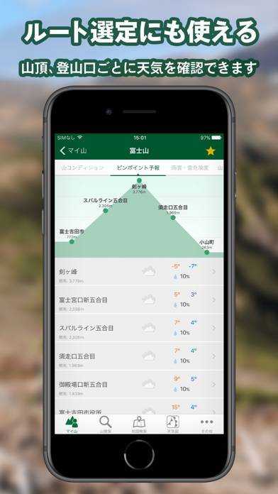 「tenki.jp 登山天気」のスクリーンショット 3枚目