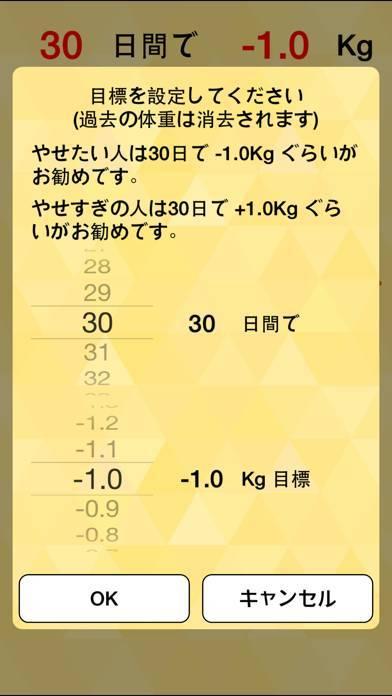 「朝はかるだけダイエット 赤い目標線で体重管理」のスクリーンショット 2枚目