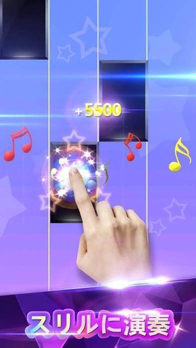 「ピアノタイル - リズム音ゲー ゲーム」のスクリーンショット 1枚目