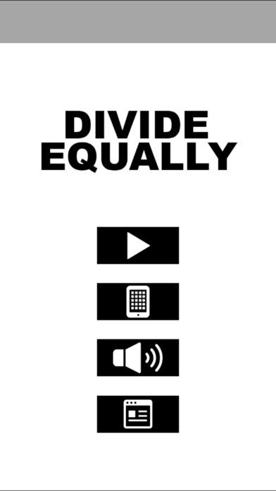 「Divide Equally ディバイド・イコーリー 均等分割パズルゲーム」のスクリーンショット 1枚目