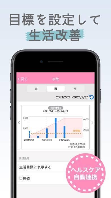 「ヘルス×ライフ ココロとカラダの健康を診える化するアプリ」のスクリーンショット 3枚目