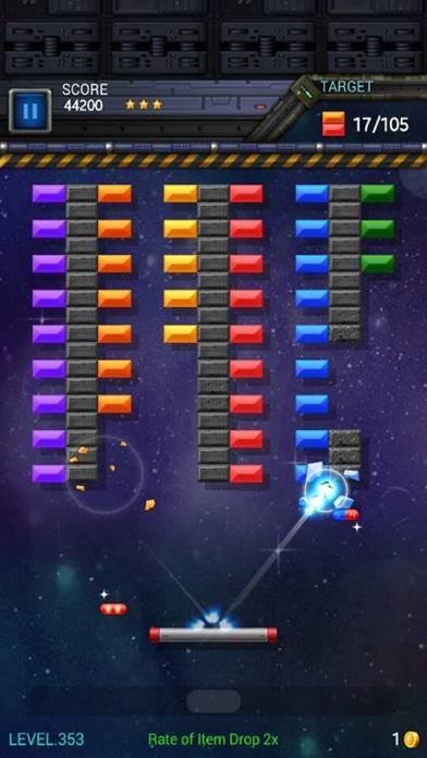 「ブロック崩しスター: スペースキング」のスクリーンショット 1枚目