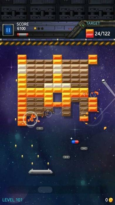 「ブロック崩しスター: スペースキング」のスクリーンショット 3枚目