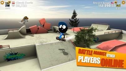 「Stickman Skate Battle」のスクリーンショット 1枚目