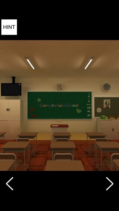 「脱出ゲーム 卒業式後の教室から脱出 謎解き脱出ゲーム」のスクリーンショット 1枚目