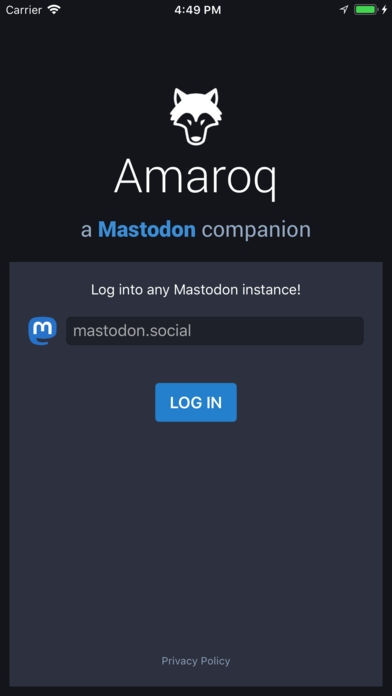 「Amaroq for Mastodon」のスクリーンショット 1枚目