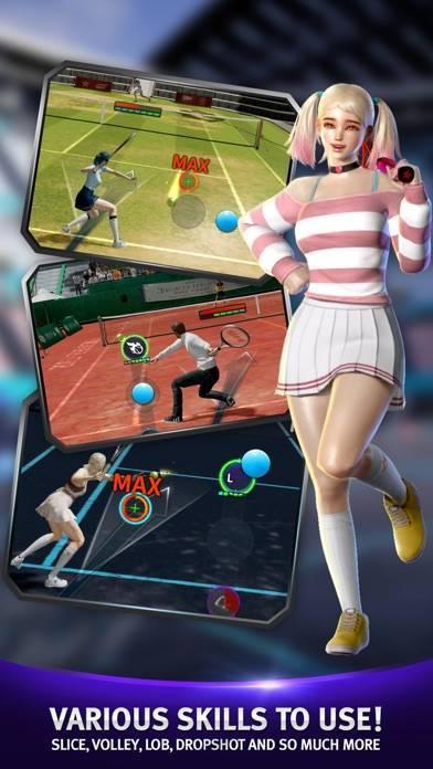 「テニススラム:グローバルデュエルアリーナ」のスクリーンショット 1枚目