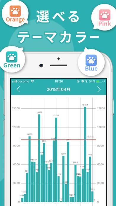 「歩数計Walk - シンプルなダイエット歩数計アプリ」のスクリーンショット 2枚目