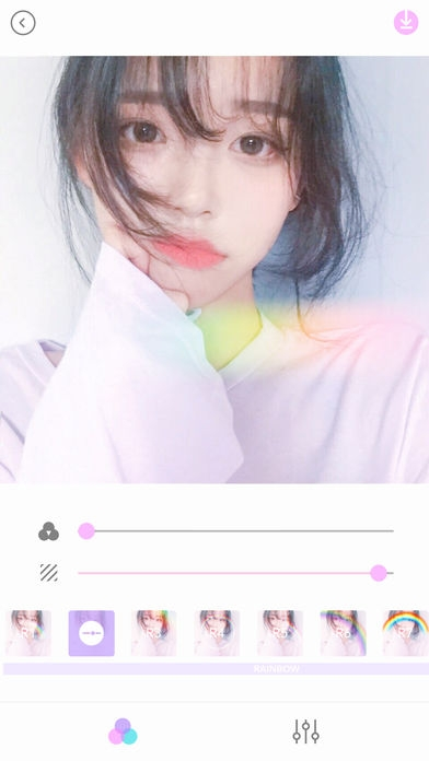 「Palette Twinkle (パレット キラキラ)- 写真加工&画像加工&自撮り」のスクリーンショット 1枚目