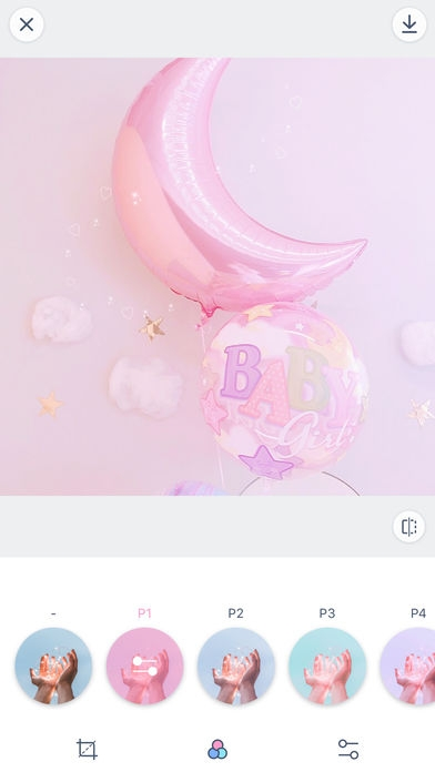 「PinksCam - Kawaii self camera」のスクリーンショット 2枚目