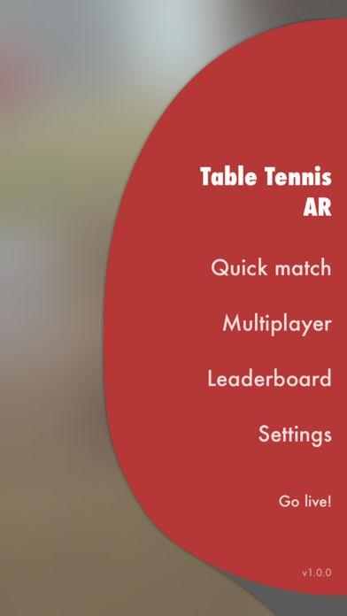 「Table Tennis AR」のスクリーンショット 3枚目