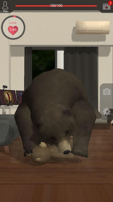 「くまといっしょ - 恐怖のクマ育成ゲーム」のスクリーンショット 3枚目