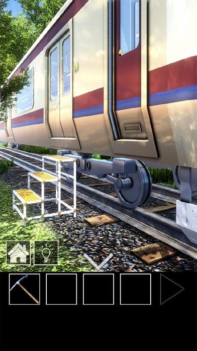 「脱出ゲーム 電車のある道」のスクリーンショット 2枚目