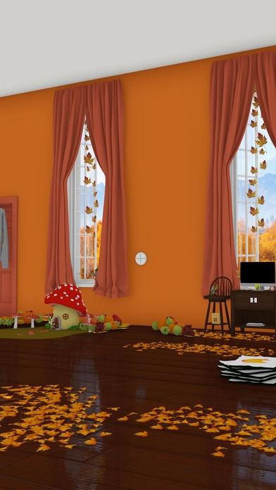 「脱出ゲーム Autumn 紅葉とキノコとリスの家」のスクリーンショット 2枚目