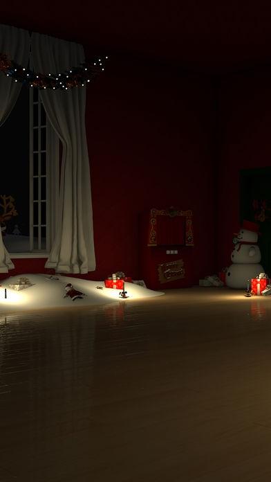 「脱出ゲーム Merry Xmas 暖炉とツリーと雪の家」のスクリーンショット 1枚目