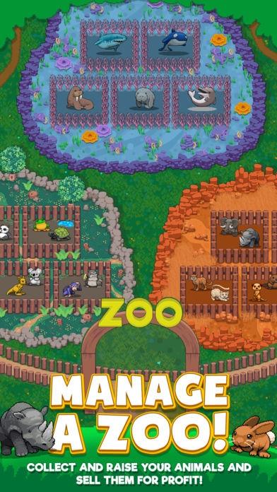 「Idle Zoo Tycoon」のスクリーンショット 1枚目