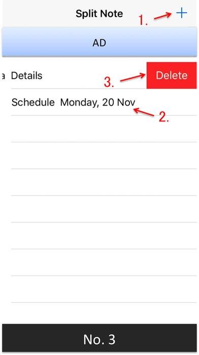 「2列メモ - 2列に書き込むことができるノートアプリ」のスクリーンショット 3枚目
