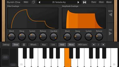 「AudioKit Synth One Synthesizer」のスクリーンショット 3枚目