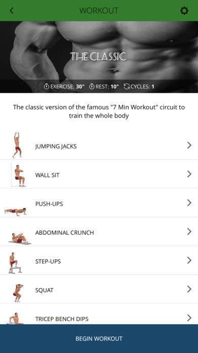 「7分間トレーニング -ダイエット、トレーニングに最適!-」のスクリーンショット 2枚目