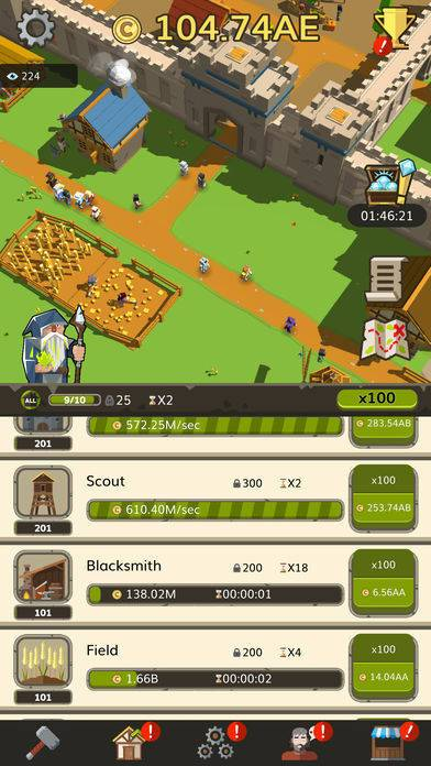 「Idle Medieval Tycoon - Clicker」のスクリーンショット 2枚目