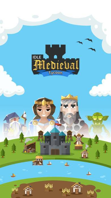 「Idle Medieval Tycoon - Clicker」のスクリーンショット 1枚目