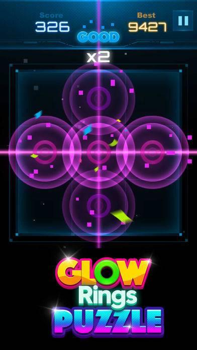 「Glow Rings Puzzle」のスクリーンショット 3枚目