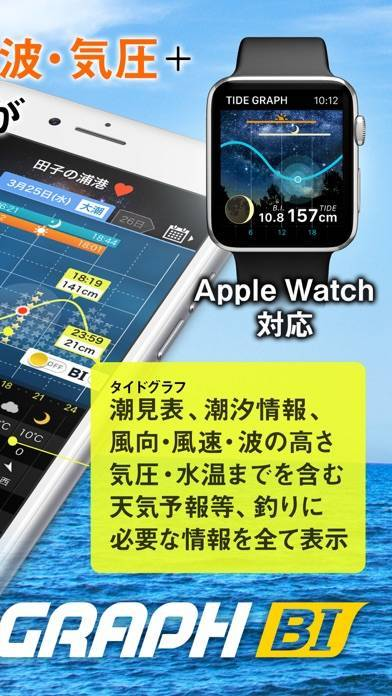 「タイドグラフBI /全国の釣り場ごとの潮見表」のスクリーンショット 2枚目