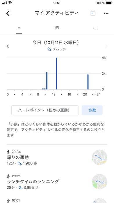 「Google Fit: アクティビティ トラッカー」のスクリーンショット 2枚目