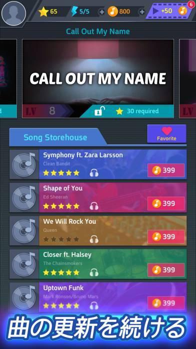 「Tap Tap Music-Pop Songs」のスクリーンショット 1枚目