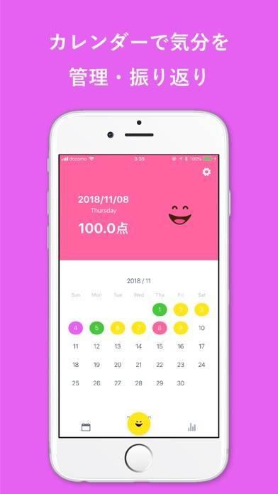 「気分をメモする感情日記アプリ - エモ日記」のスクリーンショット 2枚目
