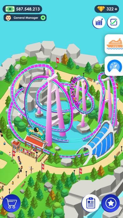 「《Idle Theme Park》 - テーマパークの大物」のスクリーンショット 1枚目