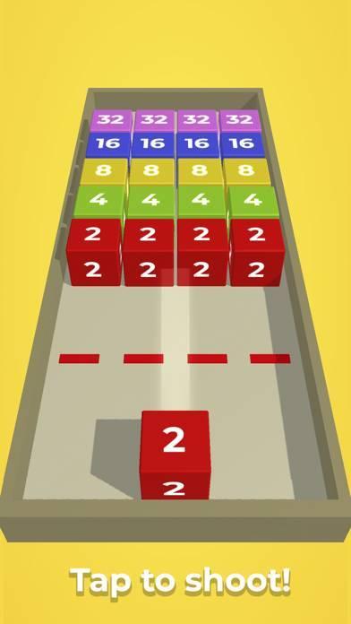 「チェーンキューブ:2048 3Dマージゲーム」のスクリーンショット 1枚目
