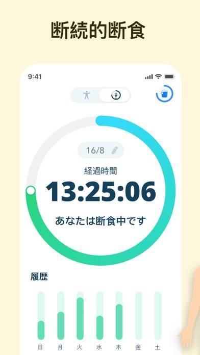 「断続的断食トラッカー -  Fasting」のスクリーンショット 2枚目